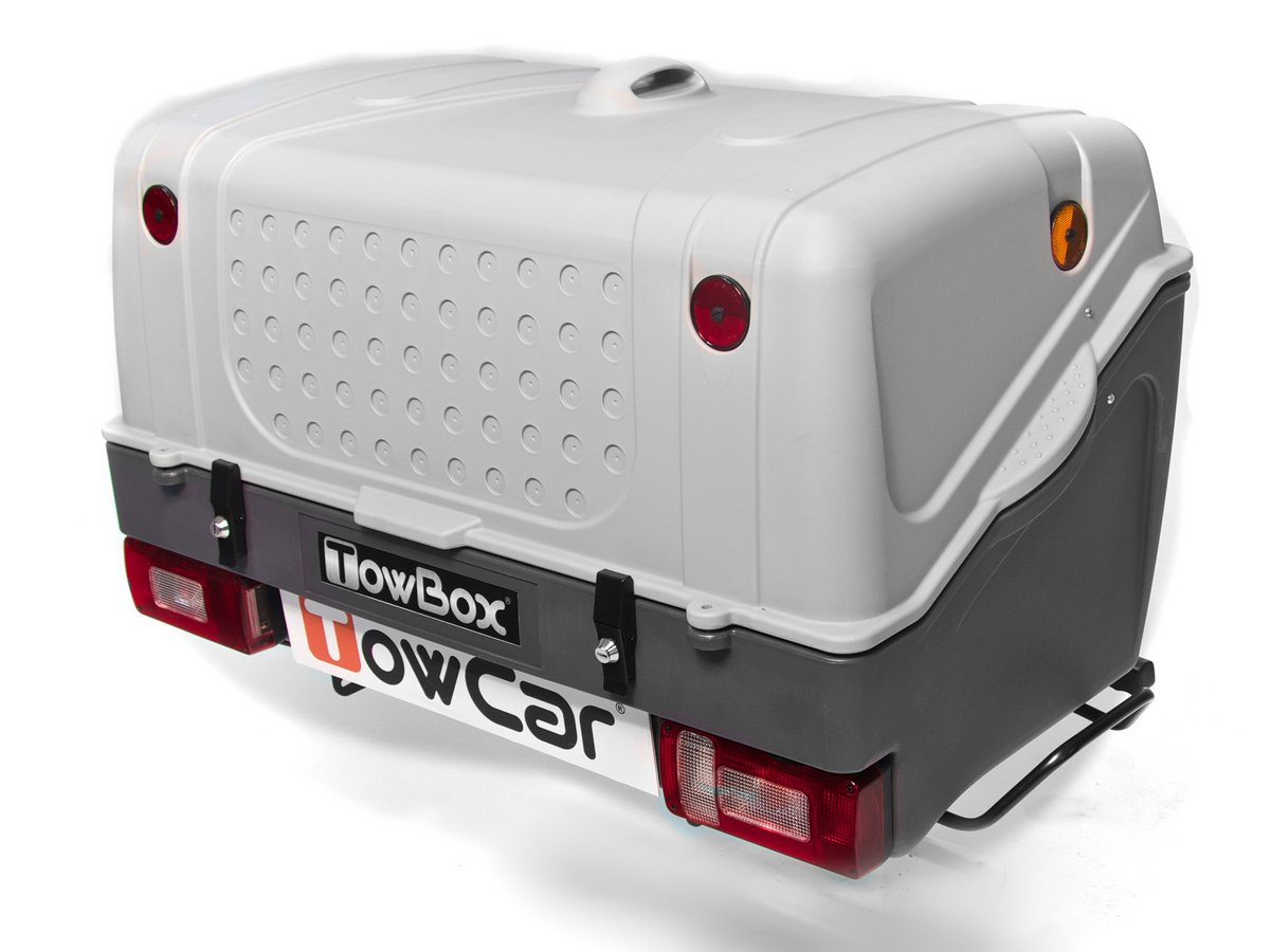 Towbox box montowany na haku holowniczym boxy dachowe for Towbox usato